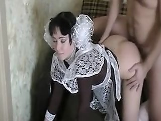 Naughty maid receives..