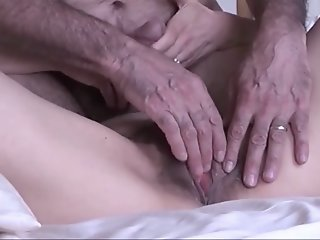 Hubby finger fucks and doggy..