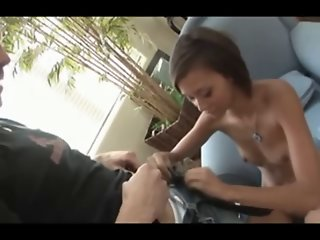 Petite 18 year old fucks and..