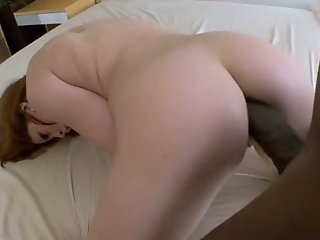 Orgasmic redhead has several..