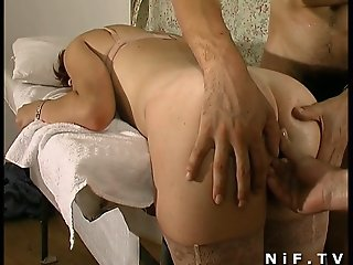 French redhead slut gets..