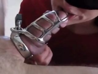 Wife with BBC, locked hubby..