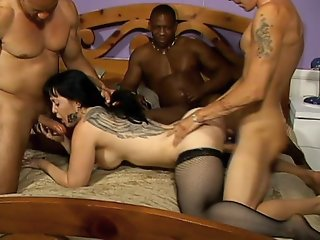 MILF Gangbang with Cream Pie..